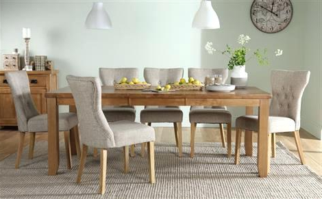 Oak Dining Tables 8 Chairs Pertaining To Most Up To Date Round Table 8 Chairs Large Round Dining Table Round Dining Table (View 12 of 20)