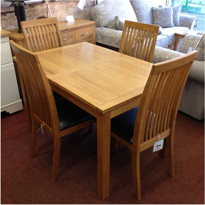 Oak Dining Tables And 4 Chairs For Widely Used Breathtaking Extending Oak Dining Table With 4 Chairs Flintshire (View 14 of 20)