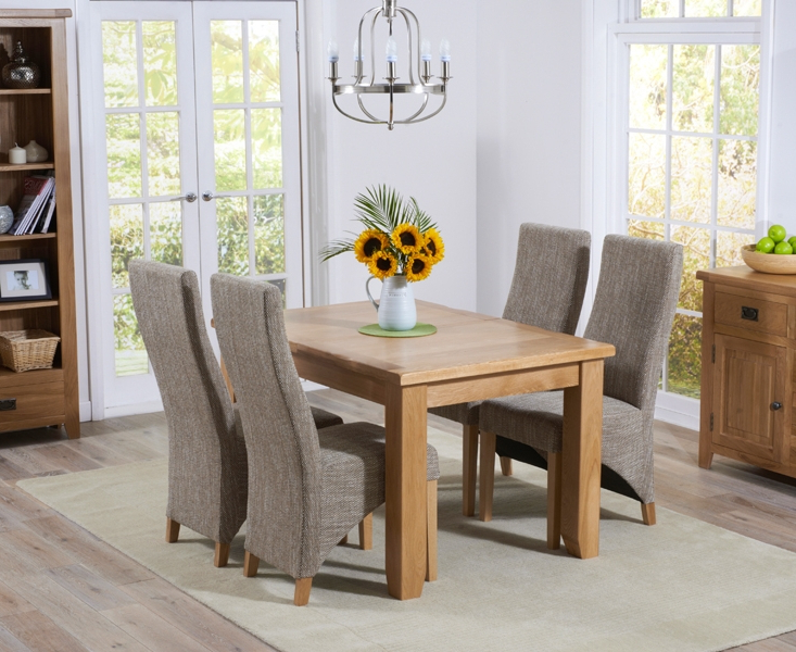 Oak Dining Tables And Fabric Chairs Inside Most Recently Released Buy Mark Harris York Solid Oak Dining Set – 130cm Extending With (View 5 of 20)