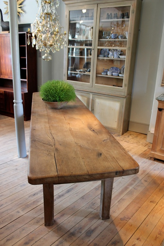 Oak Dining Tables In Fashionable Large 18Th Cent French Oak Dining Table With Great Thick Top (Gallery 17 of 20)