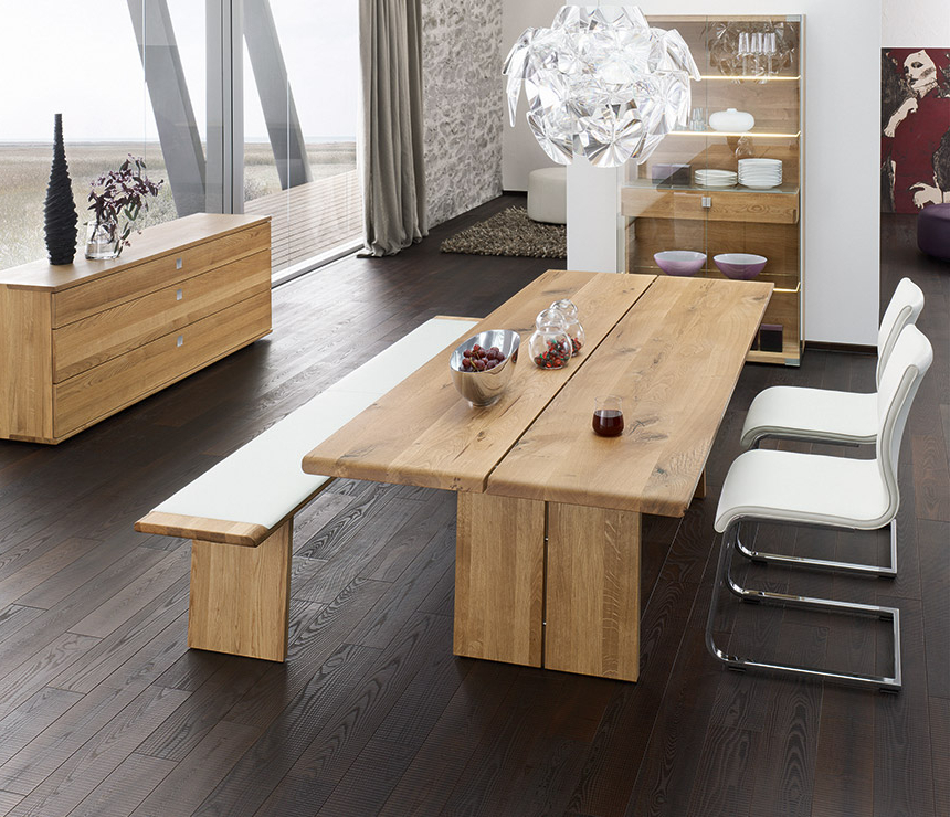 Oak Dining Tables Inside Most Recent Luxury Natural Wood Dining Table – Nox – Wharfside Dining Furniture (View 13 of 20)