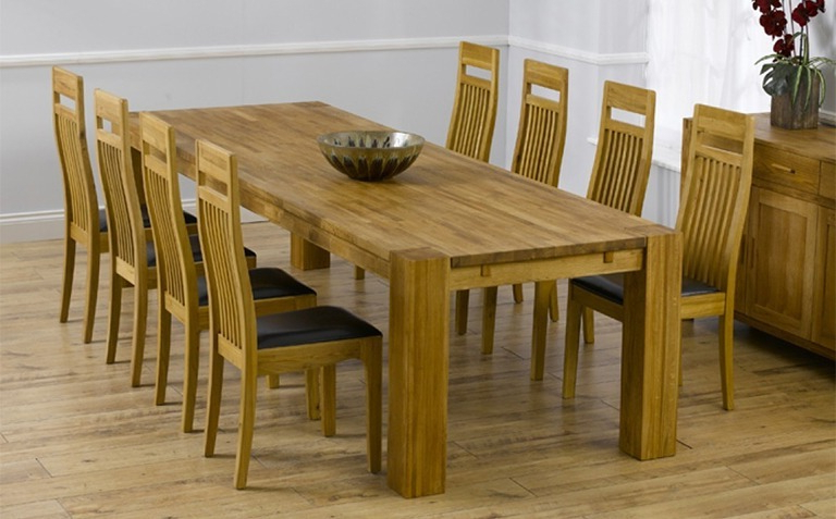 Oak Dining Tables Inside Well Known Oak Dining Table Sets (View 14 of 20)