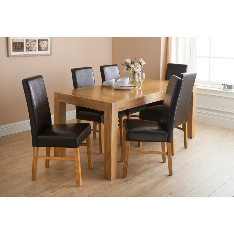 Oak Dining Tables Sets Pertaining To Famous How And Why To Pick Oak Dining Table And Chairs – Blogbeen (View 7 of 20)