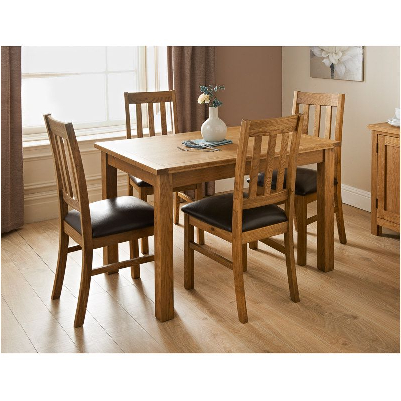 Oak Dining Tables Sets Regarding Popular Excellently Hampshire Oak Dining Set Dining Furniture B – Cheap (Gallery 10 of 20)