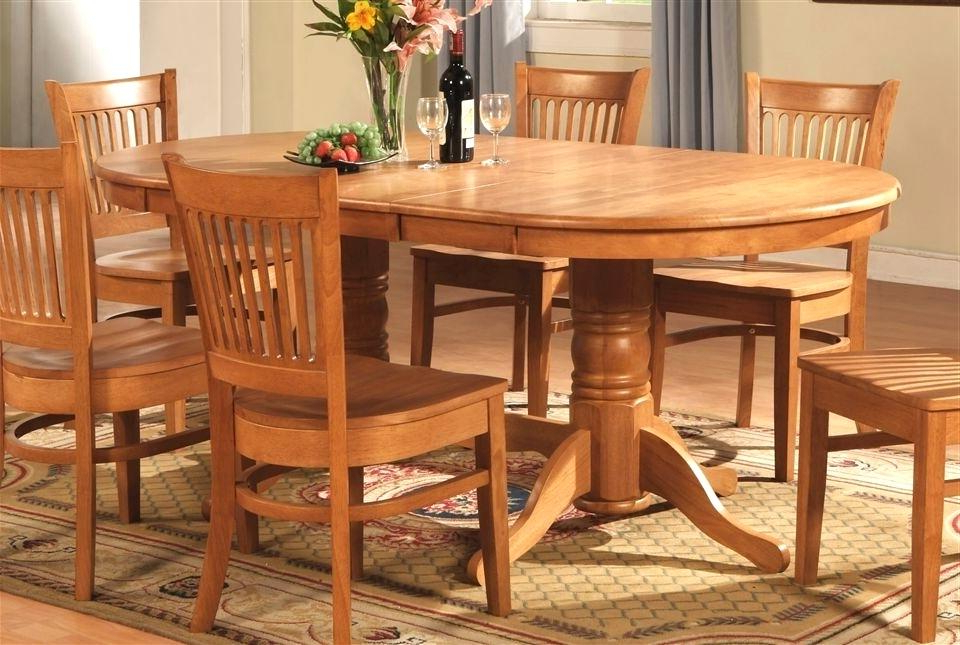 Oak Dining Tables Sets With Regard To Newest Startling Oval Oak Dining Table Chairs Creative Of Oak Dining Room (View 20 of 20)