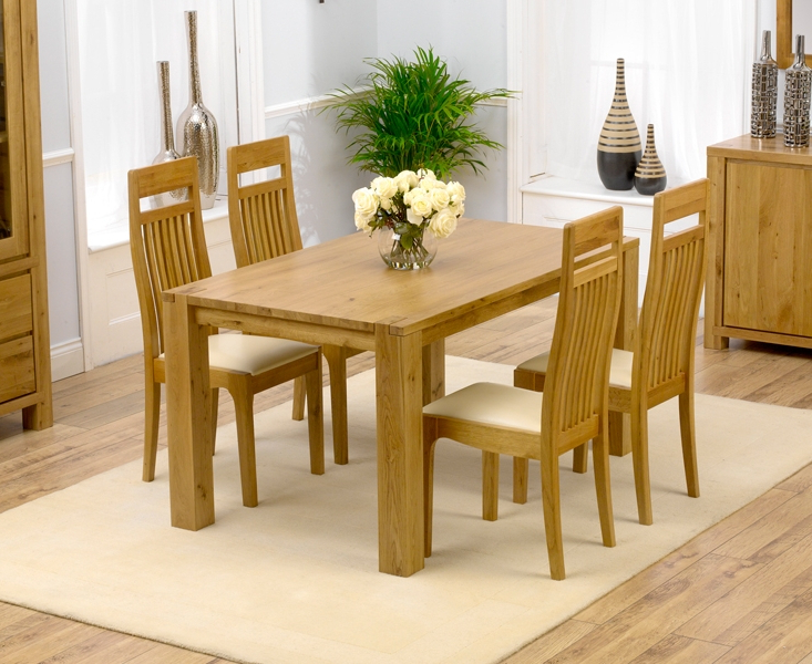Oak Dining Tables Sets Within Famous Home With Oak Dining Table And Chairs – Home Decor Ideas (View 8 of 20)