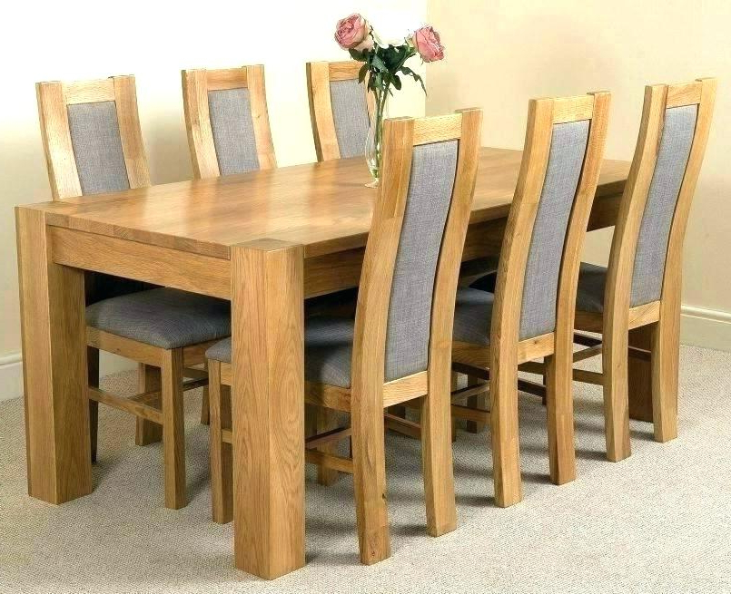 Oak Dining Tables With 6 Chairs With Regard To 2018 Ebay Dining Chairs 6 Chair Model Dining Chairs Set Of 6 Chair Ebay (View 16 of 20)