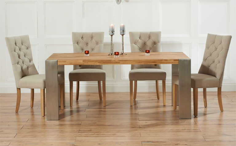 Oak Extending Dining Table Sets – Castrophotos In 2018 Extendable Dining Room Tables And Chairs (View 4 of 20)