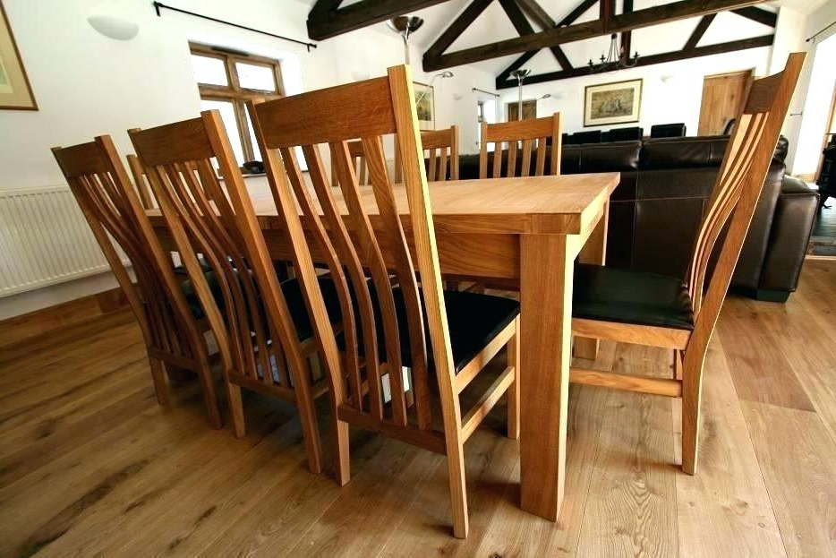 Oak Extending Dining Tables And 8 Chairs Intended For Recent Solid Oak Extending Dining Table And 4 Chairs 6 Leather Argos Best (View 12 of 20)