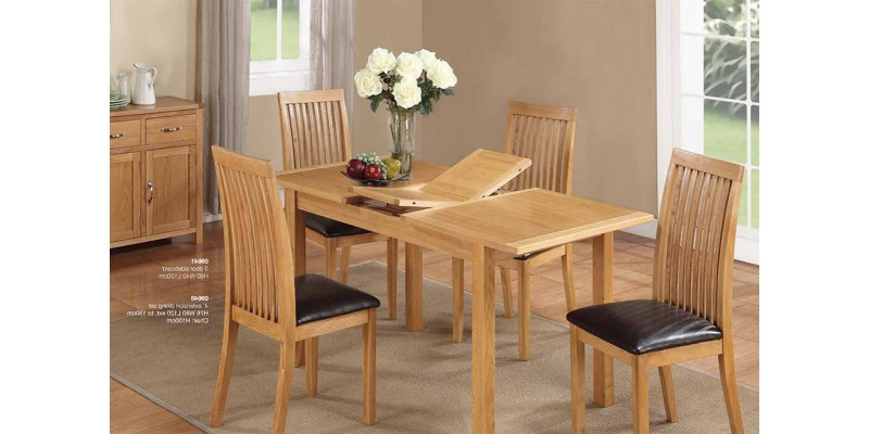 Oak Extending Dining Tables And Chairs With Regard To Most Current Hartford City Oak Extending Dining Table And 4 Chairs (Gallery 11 of 20)