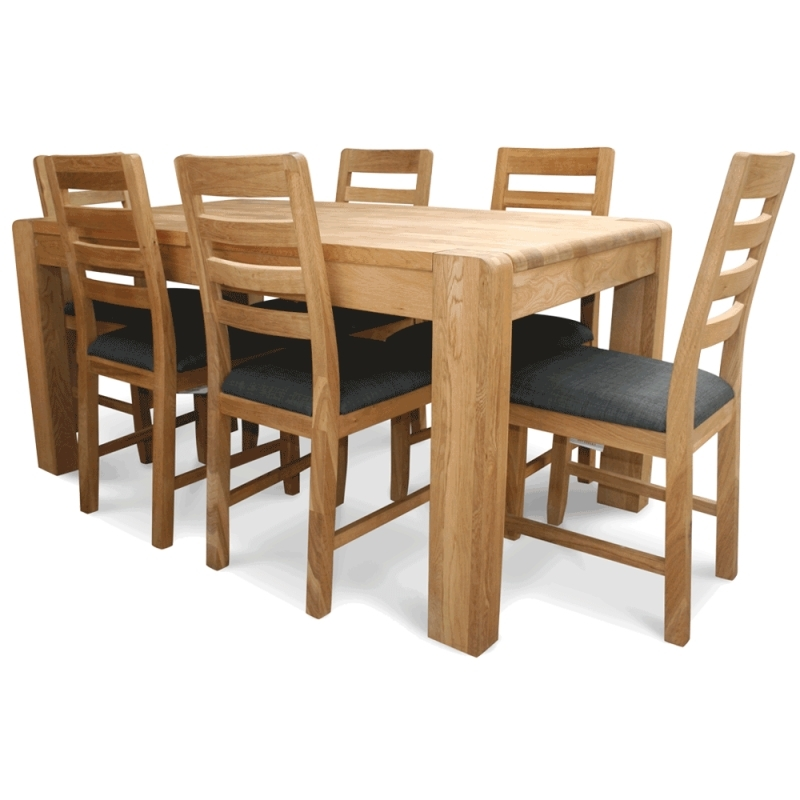 Oak Extending Table And Chairs Within Latest Caira Extension Pedestal Dining Tables (View 12 of 20)