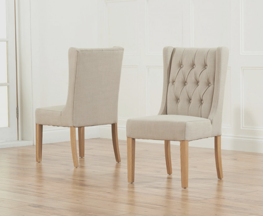 Oak Fabric Dining Chairs Regarding Most Recently Released Luxury Fabric Oak Dining (View 16 of 20)