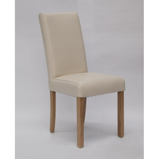 Oak In Cream Leather Dining Chairs (Gallery 17 of 20)