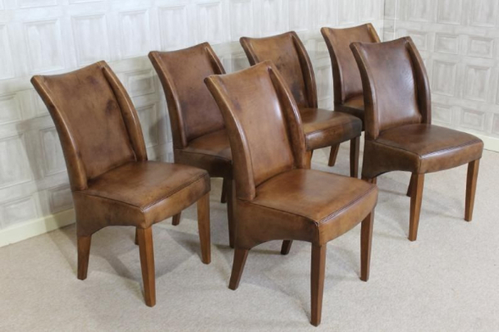 Oak Leather Dining Chairs With Regard To Well Liked  (View 14 of 20)