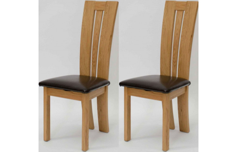 Oak Leather Dining Chairs With Well Known Venezia Leather Seated Solid Oak Dining Chair (View 12 of 20)