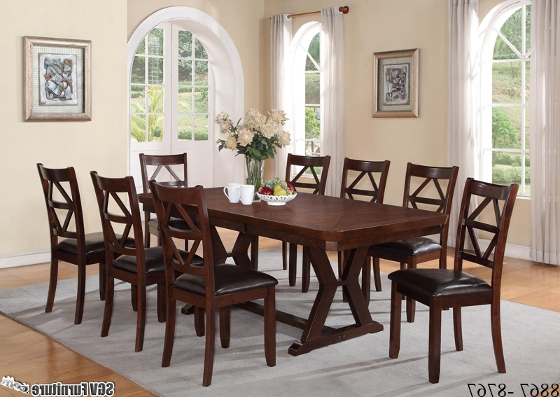 [%oak Style 9 Piece Dining Set, 1 Table, 8 Chairs [8867 – 8767 With Widely Used 8 Chairs Dining Sets|8 Chairs Dining Sets Pertaining To Popular Oak Style 9 Piece Dining Set, 1 Table, 8 Chairs [8867 – 8767|well Known 8 Chairs Dining Sets Within Oak Style 9 Piece Dining Set, 1 Table, 8 Chairs [8867 – 8767|most Up To Date Oak Style 9 Piece Dining Set, 1 Table, 8 Chairs [8867 – 8767 With 8 Chairs Dining Sets%] (View 15 of 20)