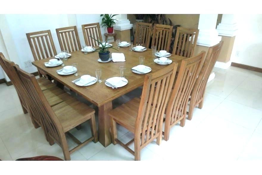 Oak Wood Square Expandable Dining Table With Four Chairs Expanding Intended For Popular Extendable Square Dining Tables (Gallery 17 of 20)