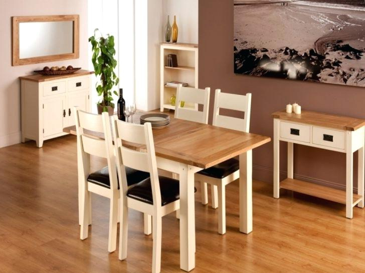 Oak Wood Square Expandable Dining Table With Four Chairs Expanding With Regard To Latest Square Extendable Dining Tables And Chairs (View 10 of 20)