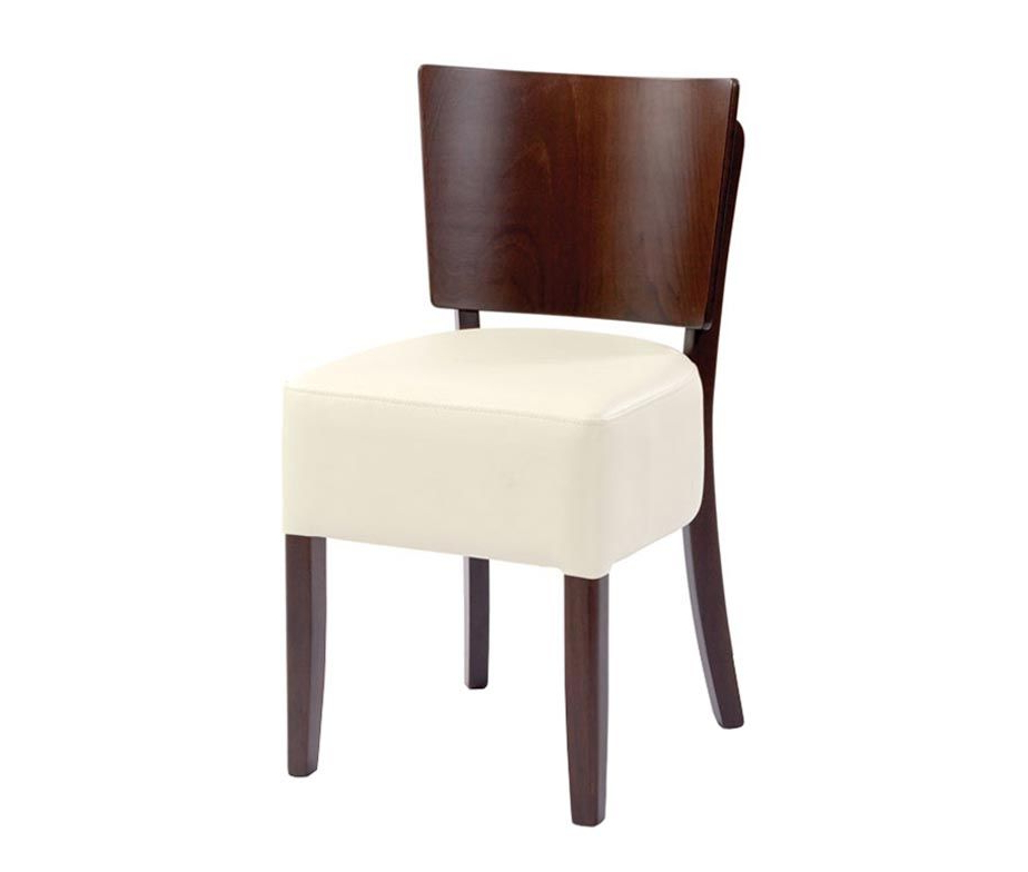 Oakham Dining Chairs For Restaurants Cafes And Bars Upholstered Seat Inside Current Cream Faux Leather Dining Chairs (View 14 of 20)