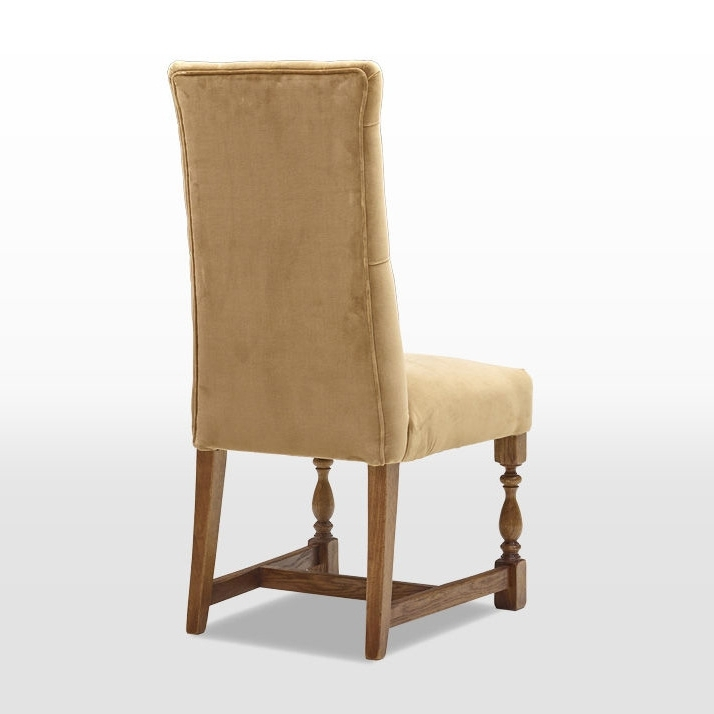 Oc3170 Button Back Upholstered Dining Chair – Old Charm Furniture Throughout Well Known Button Back Dining Chairs (Gallery 17 of 20)