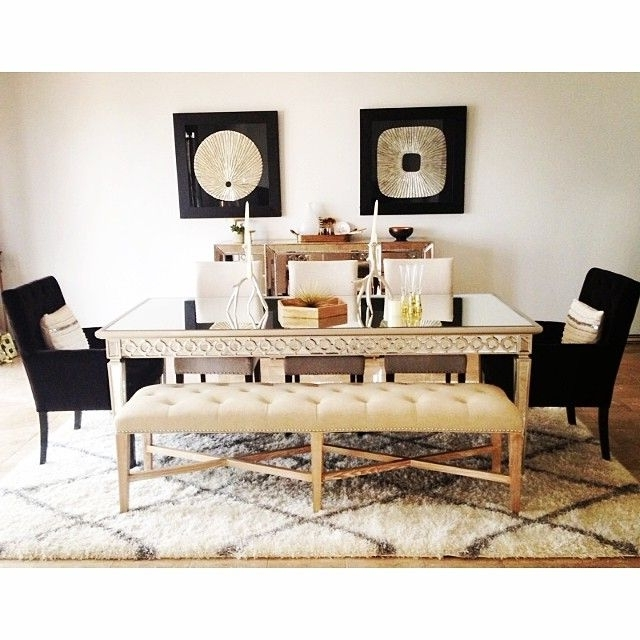 Omni Side Chairs With Most Popular Our Sophie Mirrored Dining Table, Lola Side Chairs, Rencourt Bench (View 6 of 20)