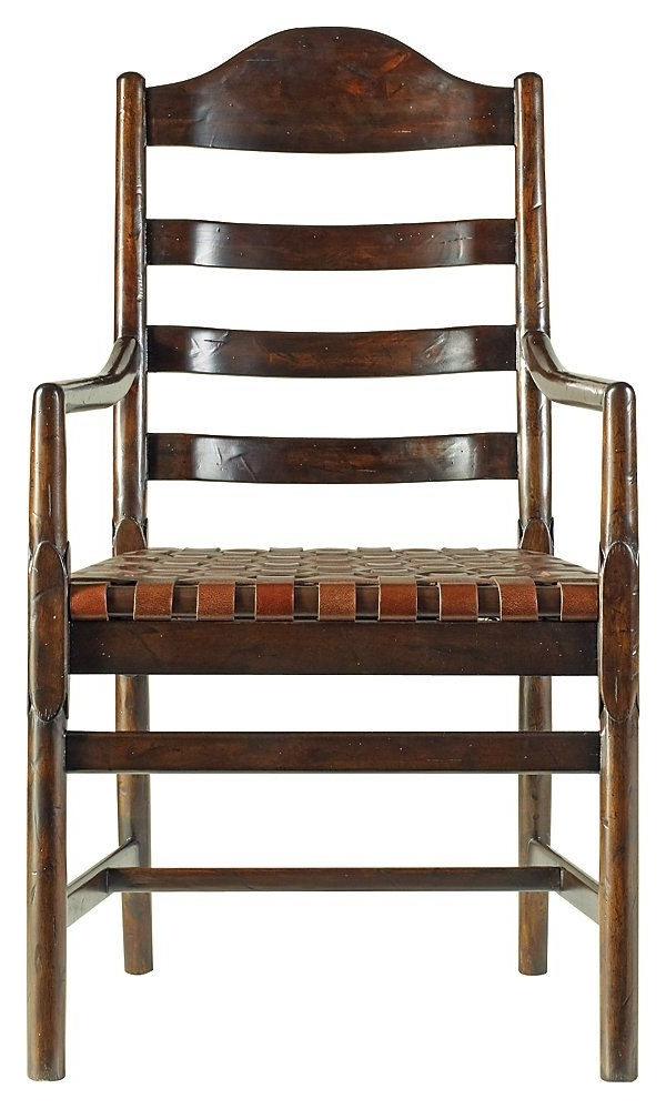 One Kings Lane – A New Perspective – Ama Ladderback Armchair, Brown With Regard To Well Known Amos Side Chairs (View 3 of 20)