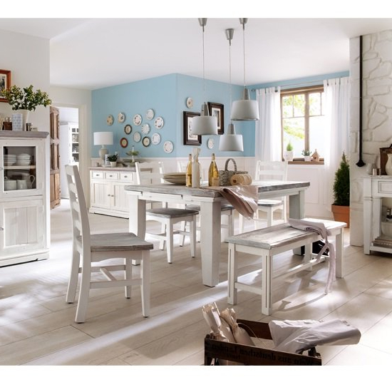 Opal Extendable Dining Table 4 Chairs And Bench In White With Newest Extendable Dining Tables And 4 Chairs (View 18 of 20)