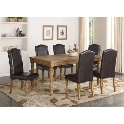 Ophelia & Co. Keitt 7 Piece Dining Set Chair Color: Espresso Throughout Well Liked Delfina 7 Piece Dining Sets (Gallery 4 of 20)