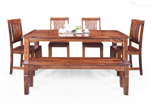 Order Dining Table Online At Best Price – Royaloak Within Most Current Wooden Dining Sets (Gallery 14 of 20)