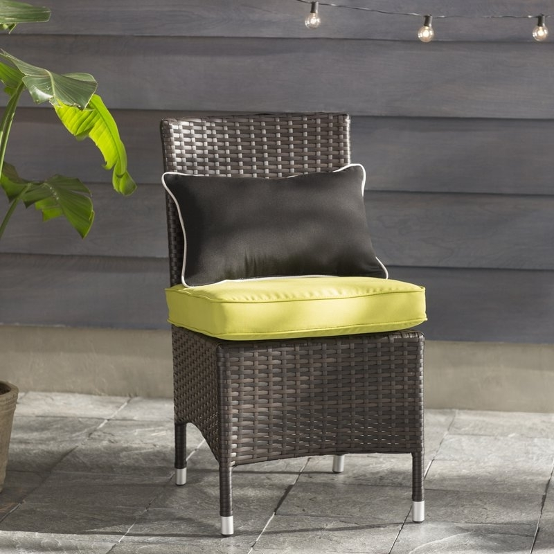Orion Side Chairs Regarding Well Known Brayden Studio Orion Patio Dining Chair With Cushion (View 10 of 20)