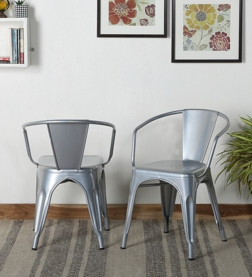 Orion Side Chairs With Recent Buy Orion Metal Chair (Set Of 2) In Silver Colourbohemiana (View 12 of 20)