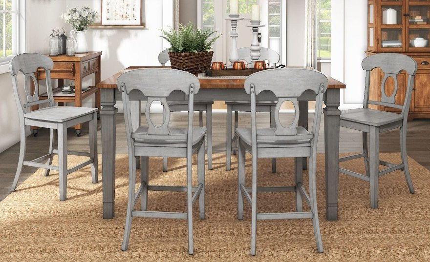 Our Best Dining With Best And Newest Wyatt 7 Piece Dining Sets With Celler Teal Chairs (View 13 of 20)