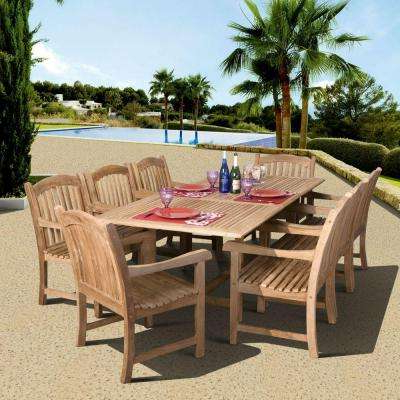Outdoor Brasilia Teak High Dining Tables Intended For Popular Extendable Table – 8 9 Person – Teak – Patio Dining Furniture (Gallery 10 of 20)