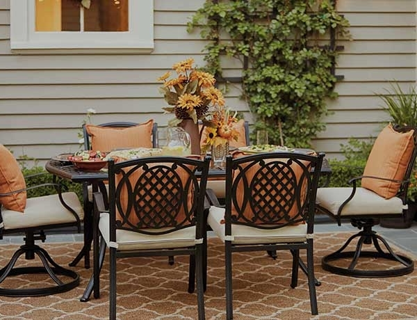 Outdoor Dining Furniture At The Home Depot Pertaining To 2018 Nautical Silver Side Chairs (View 15 of 20)