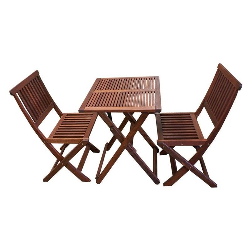 Outdoor Dining Table And Chairs Sets Pertaining To Popular 3Pc Outdoor Dining Table And Chairs Set Foldable (View 10 of 20)