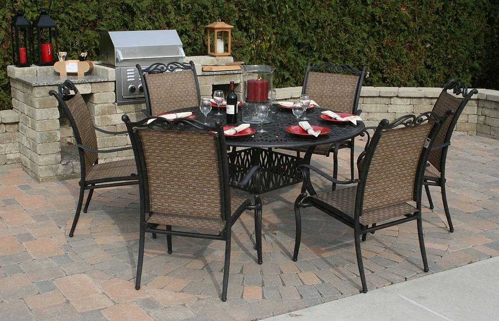 Outdoor Dining Table And Chairs Sets Regarding 2018 Dining Room Metal Top Outdoor Dining Table Wooden Garden Furniture (View 11 of 20)