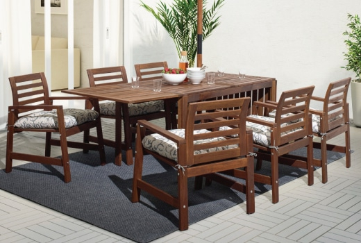 Outdoor Dining Table And Chairs Sets With Regard To Popular Outdoor Dining Furniture, Dining Chairs & Dining Sets – Ikea (View 2 of 20)