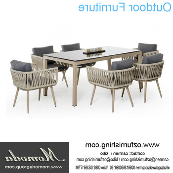Outdoor Dining Table And Chairs Sets With Widely Used Ck207 Modern Outdoor Furniture Garden Dining Table Set Dining Table (Gallery 7 of 20)