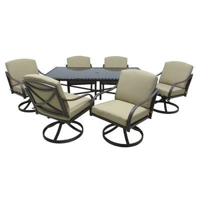 Outdoor Innovation Lido 7 Piece Dining Set With Cushions (Gallery 6 of 20)