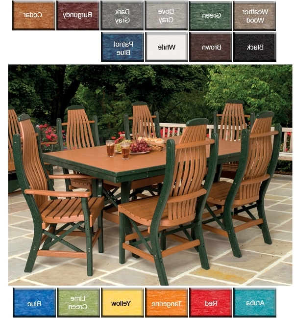 Outdoor Poly Furniture: Natra Breeze Furniture Bentwood Dining Chair Intended For Most Popular Green Cedar Dining Chairs (View 14 of 20)