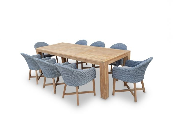 """Outdoor Sienna Dining Tables With Most Recently Released Sienna Bay"""" Solid Teak Outdoor  (View 14 of 20)"""