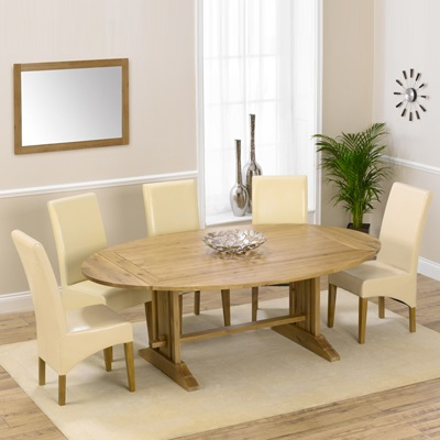 Oval Extending Dining Tables And Chairs Within Recent Carver Oak Oval Extending Dining Table With 8 Rome Chairs – Robson (View 5 of 20)