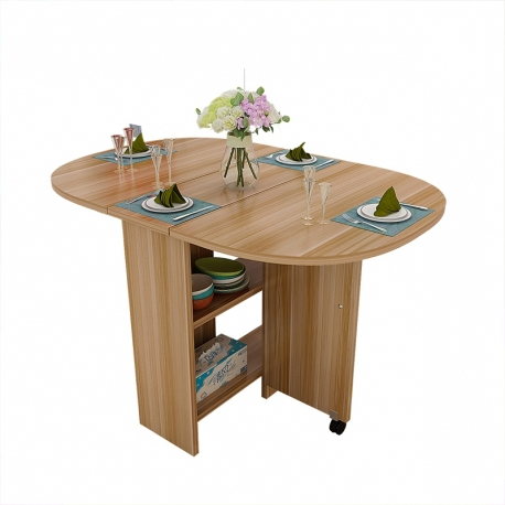 Oval Folding Dining Tables For 2018 Buy Jiji Singapore Maison Folding Dining Table Set (1+4) – Rounded Edges (View 8 of 20)