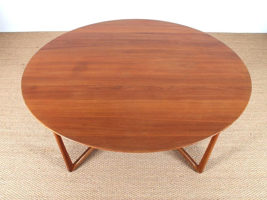 Oval Folding Dining Tables For Most Popular Folding Teak Dining Table Mid Century Modern Teak Folding Dining (Gallery 20 of 20)
