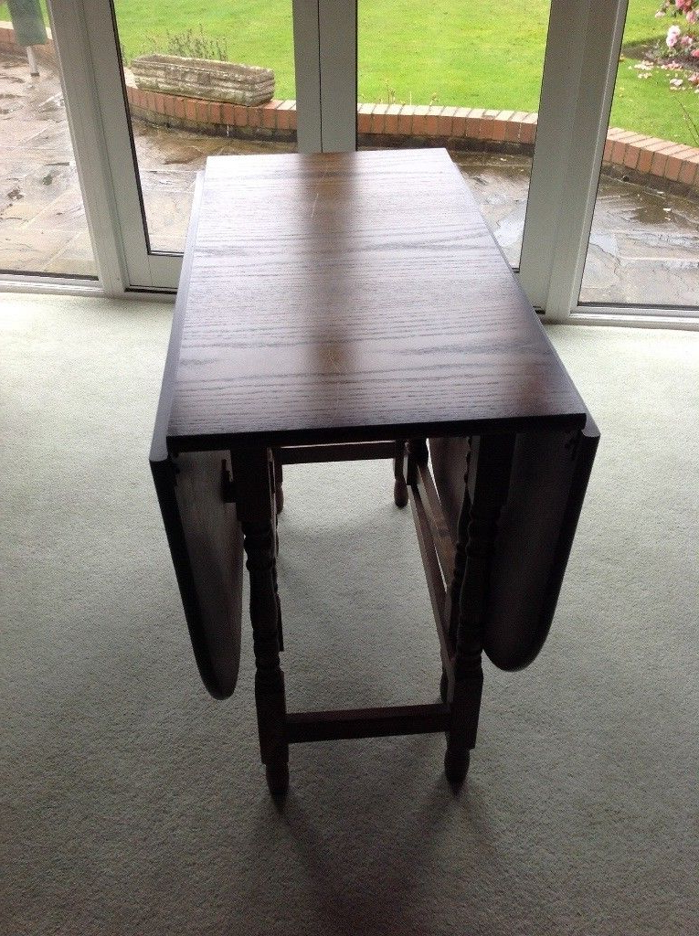 Oval Folding Leaf Dining Table (View 17 of 20)