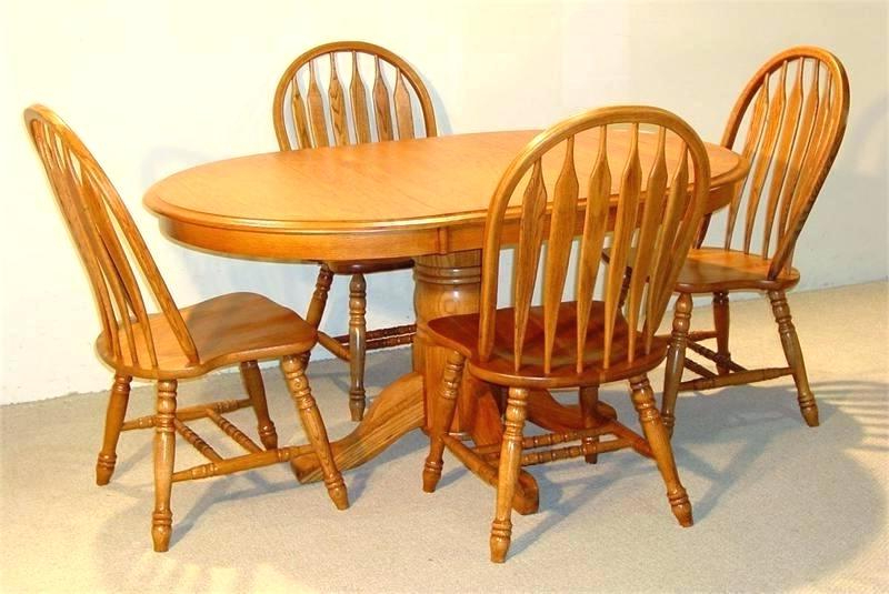 Oval Oak Dining Tables And Chairs Regarding Most Popular Oak Dining Sets – Cannabistuff (View 13 of 20)