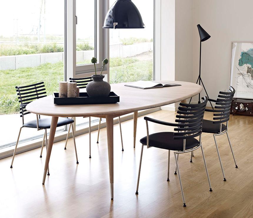 Oval Retro Dining Table – Dm9900 – Wharfside Danish Furniture Regarding Favorite Danish Style Dining Tables (View 5 of 20)