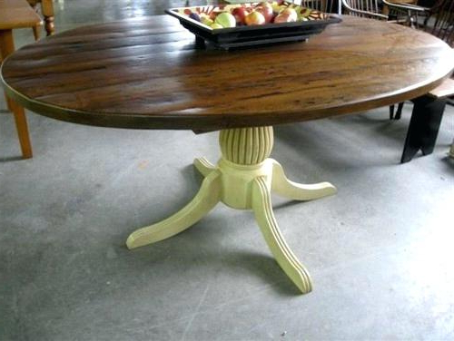 Oval Rustic Dining Table – Kuchniauani Regarding Current Oval Reclaimed Wood Dining Tables (View 8 of 20)