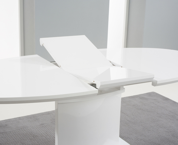 Oval White High Gloss Dining Tables Within Best And Newest Buy Mark Harris Seville White High Gloss Oval Extending Dining Table (View 15 of 20)