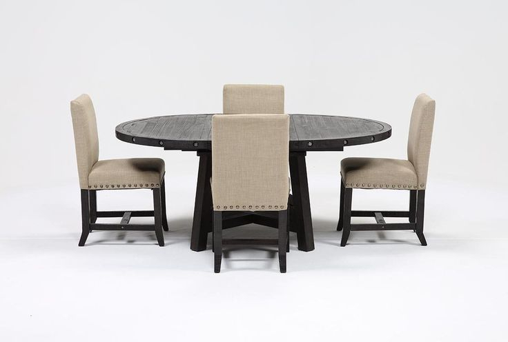 Featured Photo of Jaxon 5 Piece Round Dining Sets With Upholstered Chairs
